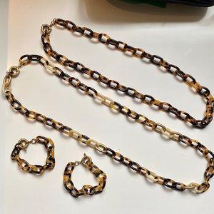 J.CREW Tortoise 4-pc BUNDLE! Bracelets & Necklaces